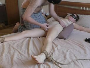 Milf tied and fucked