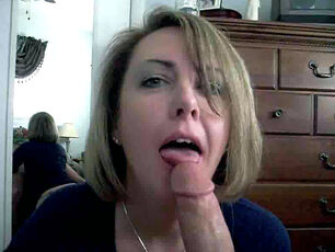 Mommy swallows cum