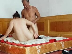 Asian granny anal