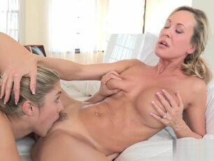 Mother daughter making love