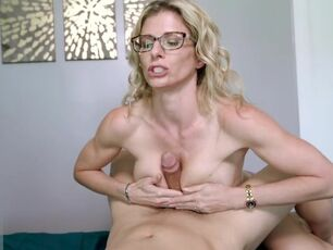 Mom helps me cum