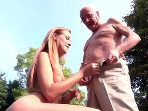 Older woman giving blowjob